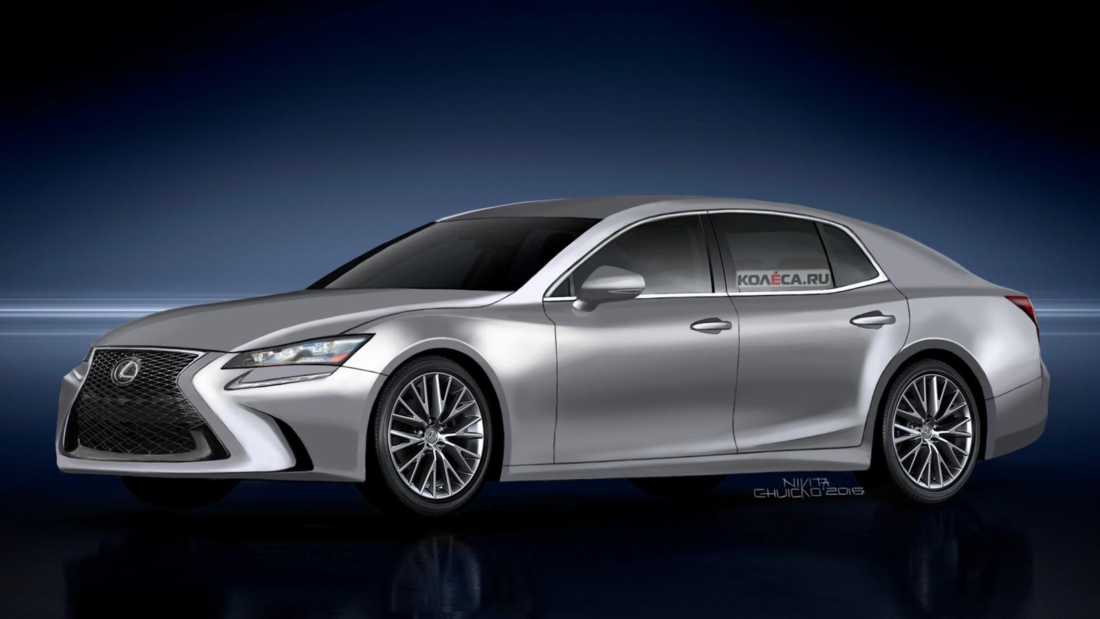 Lexus LS front