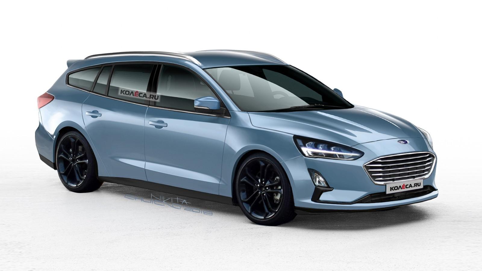 На фото: универсал Ford Focus в интерпретации художника портала Колёса.ру
