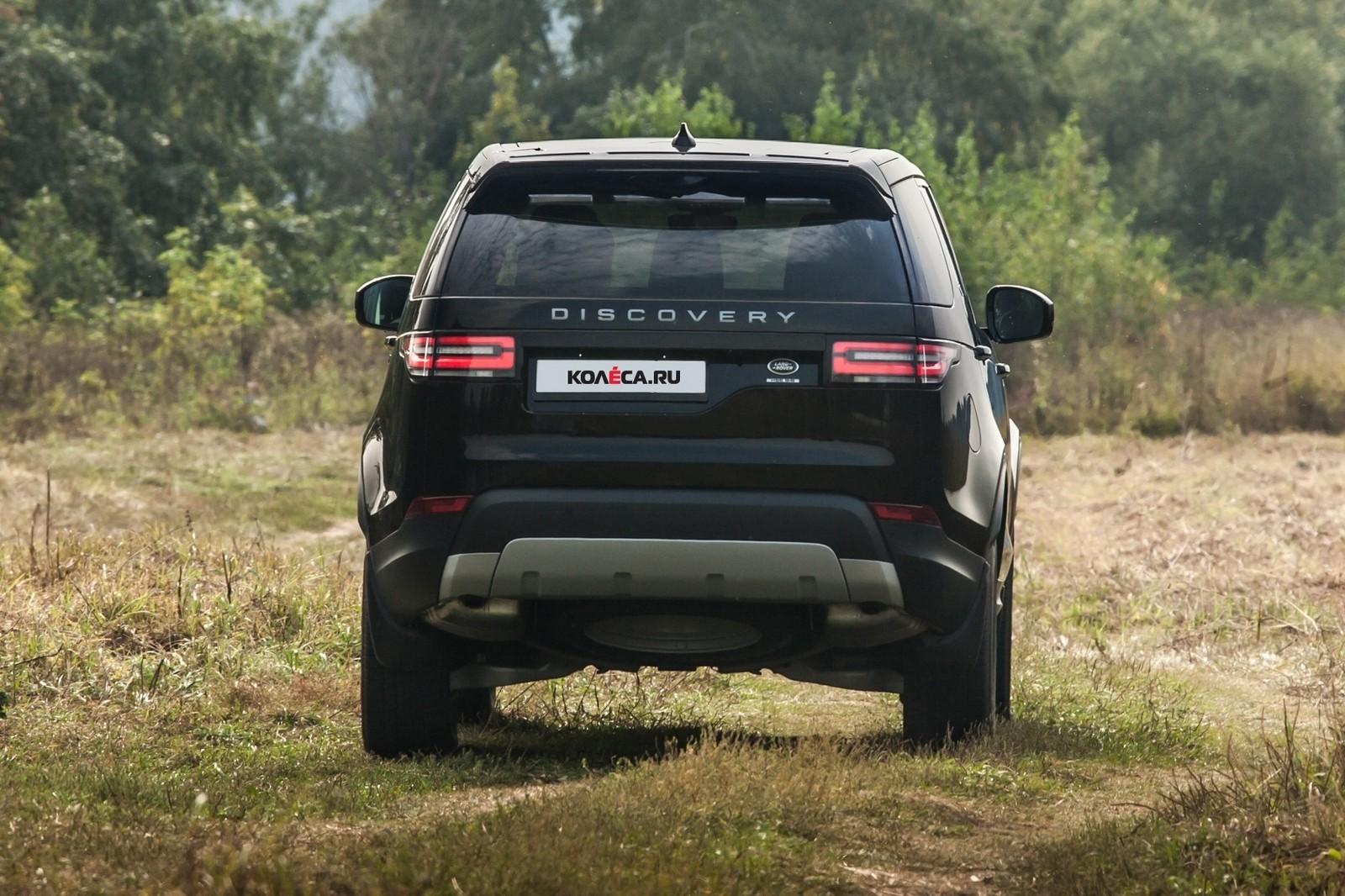 Land Rover Discovery чёрный сзади (1)