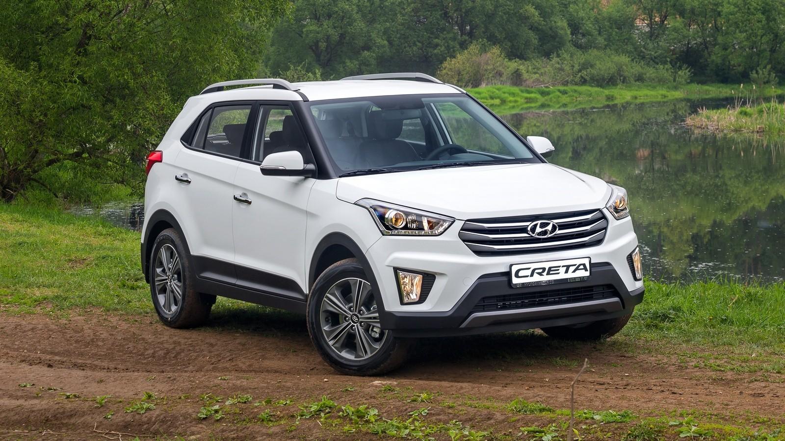 Hyundai Creta CIS-spec '08.2016–н.в. три четверти белый